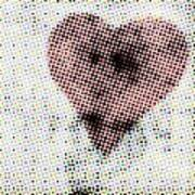 Hearts 21 Square Art Print