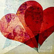 Hearts 5 Square Art Print