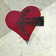 Hearts 7 Square Art Print