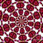 Hearts And Orchids Kaleidoscope Art Print