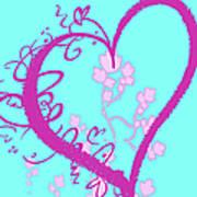 Hearts And Vines Art Print