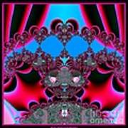 Hearts Ballet Curtain Call Fractal 121 Art Print
