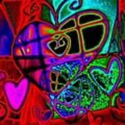 Hearts Desire Art Print by Rebecca Flaig