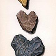 Hearts Rock Art Print