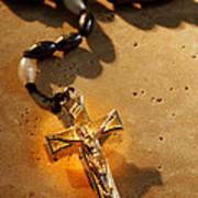 Heavenly Light Rosary  Art Print