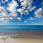 Heavenly Beach Under The Blue Sky Art Print