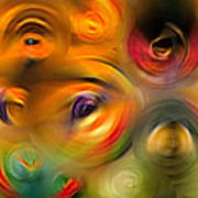 Heaven's Eyes - Abstract Art By Sharon Cummings Art Print