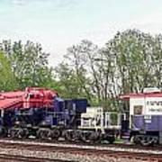 Heavy Lift 1m Pound Capacity Schnabel Train Set By Emmert International Art Print