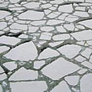 Heavy Pack Ice Terre Adelie Land Art Print