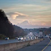 Heavy Traffic Stalls Interstate 5 Art Print