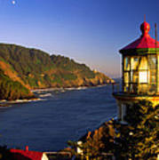Heceta Head Moonrise Art Print