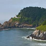Heceta Head Overlooking The Pacific Ocean Art Print