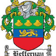 Heffernan Coat Of Arms Irish Art Print