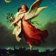 Heiliger Schutzengel  Guardian Angel 10 Pastel Art Print