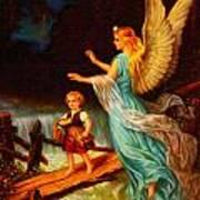 Heiliger Schutzengel  Guardian Angel 11 Oil Art Print