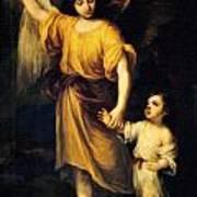 Heiliger Schutzengel  Guardian Angel 12 Oil Art Print