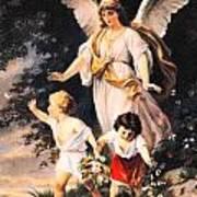 Heiliger Schutzengel  Guardian Angel 6 Pastel Art Print