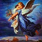 Heiliger Schutzengel  Guardian Angel 7 Oil Art Print