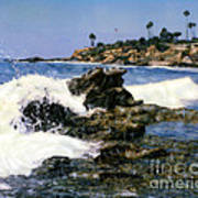 Heisler Park Waves Laguna Art Print