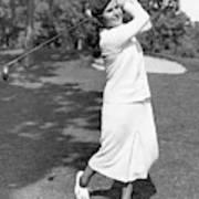 Helen Hicks Playing Golf Art Print