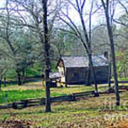 Helen Lee's Pioneer Log Cabin Art Print
