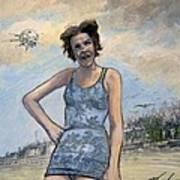 Helen Of Troy Vs Sputnik Art Print
