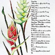 Heliconia Poem Art Print
