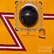 Helicopter Porthole Window Mirrors Rotor Blade Art Print