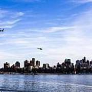 Helicopter Tour Of Nyc Art Print