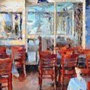 Hellas Restaurant And Bakery  Art Print by L Wright