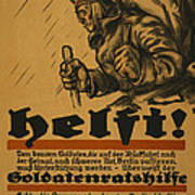 Help Art Print by Louis Oppenheim