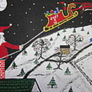 Help Santa's Stuck Art Print