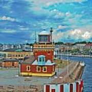 Helsingborg Lighthouse Hdr Art Print