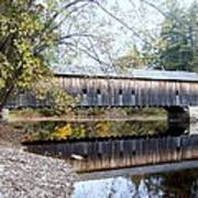 Hemlock Covered Bridge Art Print