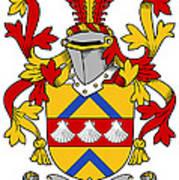 Hemphill Coat Of Arms Irish Art Print