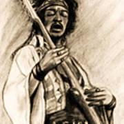 Hendrix-antique Tint Version Art Print
