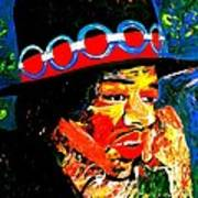 Hendrix Rocks Art Print