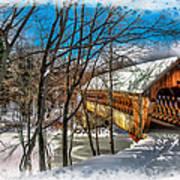 Henniker Bridge Art Print