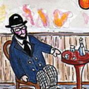 Henri Always Enjoys His Evenings. Art Print