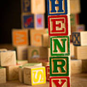 Henry - Alphabet Blocks Art Print