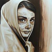 Hepburn De Los Muertos Art Print