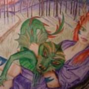 Her Dragon Art Print