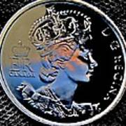 Her Majesty Elisabeth The Second  Coin Art Print