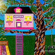 Her Tree House Art Print