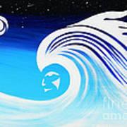 Her Wave Art Print