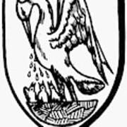 Heraldry Pelican Art Print