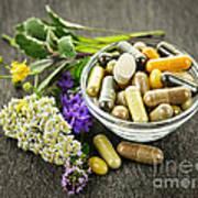 Herbal Medicine And Herbs Art Print