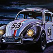 Herbie The Love Bug Painting Art Print