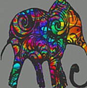 Herd Of Colors Art Print