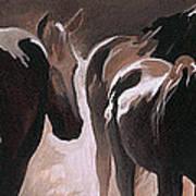 Herd Of Horses Art Print by Natasha Denger